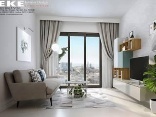 Thiết kế nội thất căn hộ The Sun Avenue 74m2 với 2 phòng ngủ:   by EKE Interior