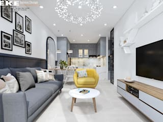Thiết kế nội thất căn hộ Golden Mansion 75m2:   by EKE Interior