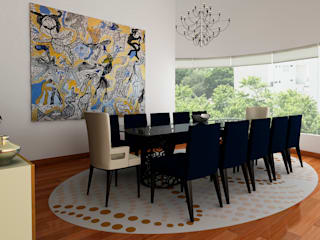 Dining room by Luis Escobar Interiorismo