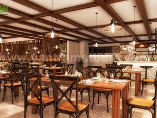 Modern & Unique 3D Restaurant Interior Concept Drawings Developed by Yantram Interior Design Firms, Bern - UK Yantram Architectural Design Studio Klasik