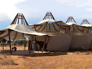 Wilderness Pavilion am Kilimanjaro / Kenya Tropische Veranstaltungsorte von Peter Stasek Architects - Corporate Architecture Tropisch