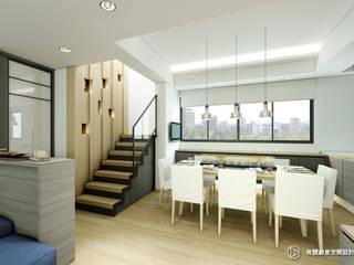 老屋翻新-住宅空間。台北【內湖-L宅】:  廚房 by 有關創意室內設計