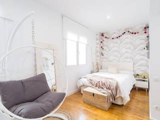 Estudi Aura, decoradores y diseñadores de interiores en Barcelona Moderne slaapkamers Wit