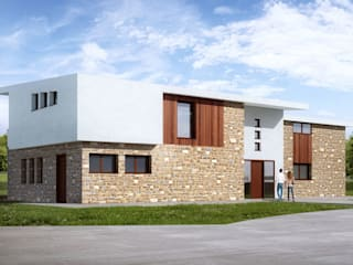 Modern houses STAAC Detached home Bricks Multicolored