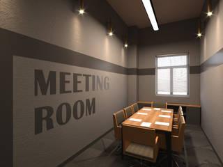 Fabrika Tasarım & Uygulama Emre Bayraktar Modern Çalışma Odası Ahşap rengi