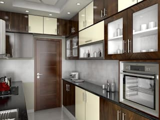 residential Projects :  Kitchen by Maruthi Interio,