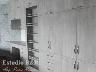 Estudio R&R BedroomWardrobes & closets Chipboard Grey