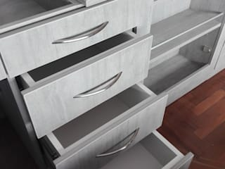 CLOSET INTEGRADO CON FALSA PUERTA de Estudio R&R Moderno