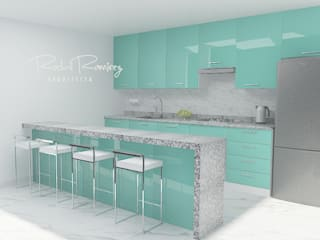 Estudio R&R Kitchen units Green