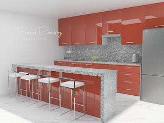 Estudio R&R Kitchen units Red