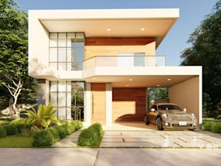 Fachada elegante: Condomínios  por Vortice Arquitetura