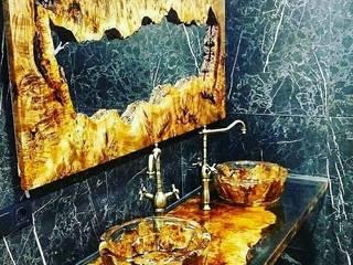 Hira wood  – Epoksi Dekorasyon :  tarz Banyo