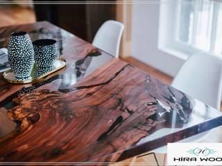 Hira wood  – Doğal ahşap ceviz epoksi masa :  tarz