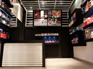 Nutry Store Suplementos Alimentares contato: arquitetura@beecriativa.com.br: Shopping Centers  por Bee Arquitetura Criativa