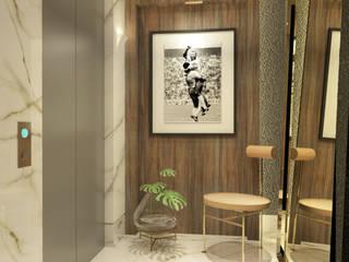 Hall de Entrada contato: arquitetura@beecriativa.com.br: Corredores e halls de entrada  por Bee Arquitetura Criativa