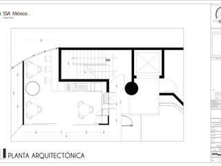 Distribución propuesta cocineta de Prototype studio Minimalista