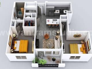 Luxuries 3D Home Floor Plan Design by Yantram Virtual Floor Plan Designer, Vegas - USA Yantram Architectural Design Studio