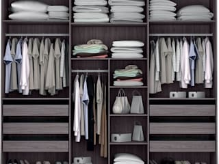 Decordesign Interiores Dressing roomWardrobes & drawers Wood effect