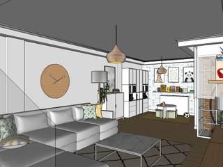 北欧デザインの リビング の RR Estudio Interiorismo en Madrid 北欧