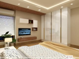 DDA flat at Rohini Modern style bedroom by Design Essentials Modern