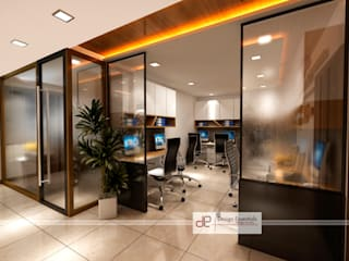 Office at NSP Delhi Industrial style study/office by Design Essentials Industrial
