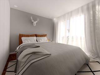 MIA arquitetos Camera da letto piccola