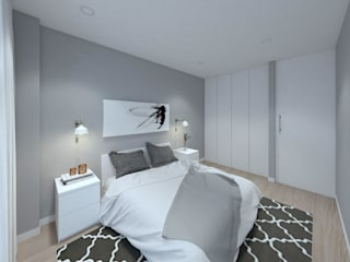 MIA arquitetos Small bedroom MDF White