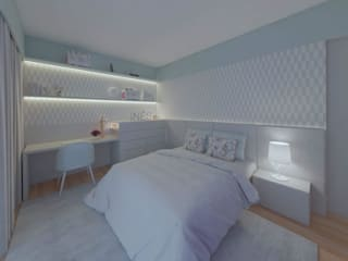 MIA arquitetos Modern style bedroom MDF Grey