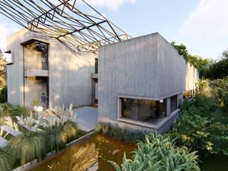 VIVIENDA UNIFAMILIAR Lomas de City Bell #251 Jardines modernos: Ideas, imágenes y decoración de Arq Olivares Moderno