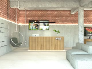 Maria Laura Coelho Industrial style study/office