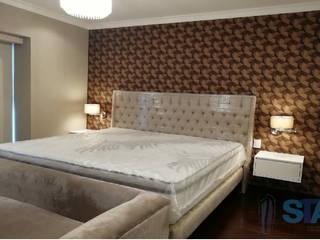 Soluciones Técnicas y de Arquitectura BedroomBeds & headboards Rubber Beige