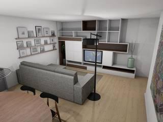 Sala de estar e jantar:   por Nieta Atelier