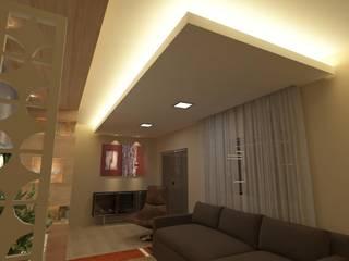 Salas de estilo moderno de Júlio Padilha Fabiani - Arquiteto Moderno