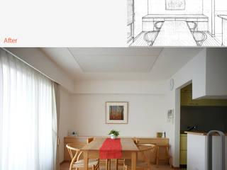 『姉小路の家』 マンションリノベーション: 一級建築士事務所 ネストデザインが手掛けたです。,