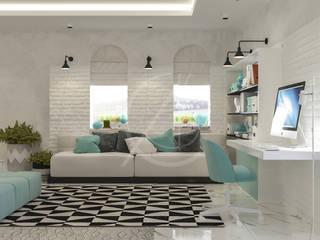 Modern Bedrooms Interior Design Modern study/office by Comelite Architecture, Structure and Interior Design Modern Bricks
