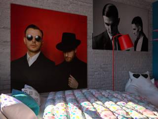 """""""Britain Pop-Art """" Ж/К """"Статус"""". Спальня.: Спальни в . Автор – Perfection A&D"""