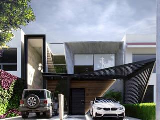 PROPUESTA / FACHADA CASA HABITACIÓN / 270 m2 / 2018 : Casas de estilo  por MIRARQPERSPECTIVAS