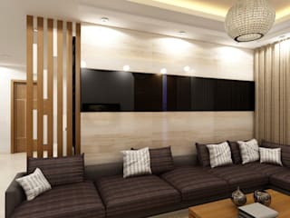 Mr.Rakesh Residence at Attapur:  Living room by Walls Asia Architects and Engineers