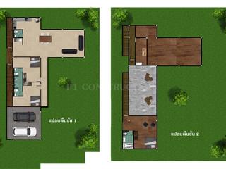 - โครงการก่อสร้าง บ้านสไตล์โมเดิร์น - โดย บริษัท พี นัมเบอร์วัน ดีไซน์ แอนด์ คอนสตรัคชั่น จำกัด โมเดิร์น