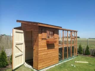 Domek ogrodowy szklarnia : styl , w kategorii Ogród zen zaprojektowany przez Geisser Sp z o.o.