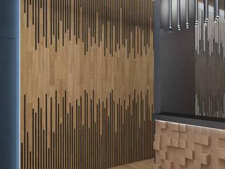 Small Boutique Hotel. Ingresso, Corridoio & Scale in stile moderno di Studio Angelo Luigi Tartaglia Moderno