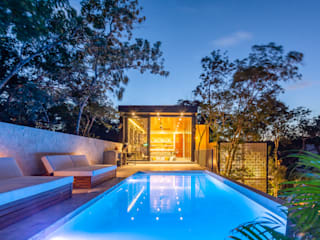 Villa Lagu Tulum: Albercas infinity de estilo  por Obed Clemente Arquitecto
