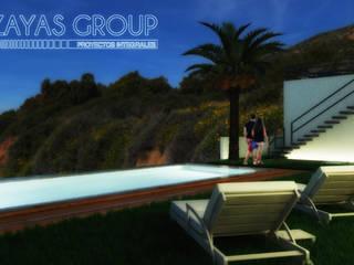 Casa de playa VI: Albercas infinity de estilo  por Zayas Group