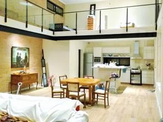 Proyecto Vivienda Unifamiliar Salones minimalistas de Arquitectura CH Minimalista