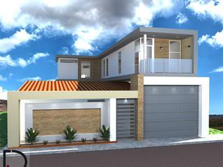 CASA RURAL: Portal exterior- Área social- Apartamento pequeño de DECOESCALA ARQ JHON LEAL Rural