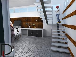 CASA RURAL: Portal exterior- Área social- Apartamento pequeño Casas de estilo rural de DECOESCALA ARQ JHON LEAL Rural