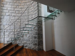 Sevilla Glass Curve Siller Treppen/Stairs/Scale Stairs Glass Transparent