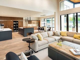 Interior design STAAC Modern living room Beige