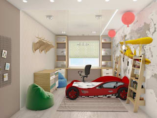 детская: Спальни для мальчиков в . Автор – студия дизайна Ольги ковалевой