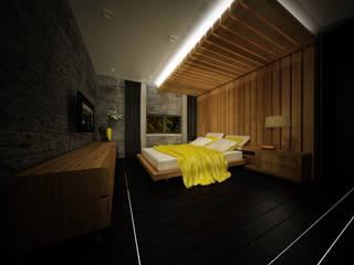 AÇI PROJE MİM. İNŞ. – Azerbeycan/Bakü otel odası projesi: modern tarz , Modern